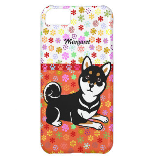 Personalized Kuro Shiba Inu dog cartoon Cover For iPhone 5C