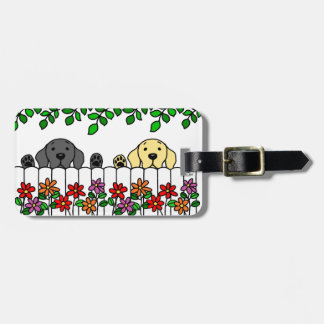 Personalized Labrador Duo Watching You Luggage Tag