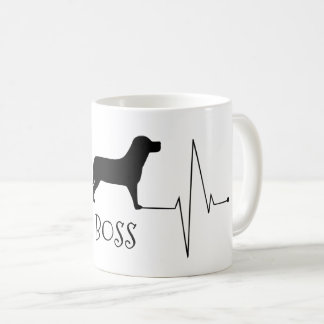 Personalized Labrador Love My Dog Heart Beat Coffee Mug