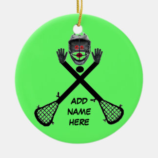 Personalized Lacrosse Star Ceramic Ornament
