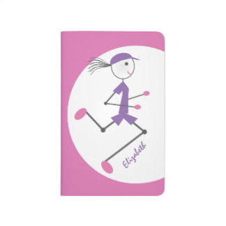 Personalized Lady Runner Running Journals