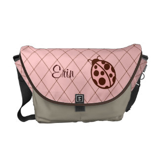 Personalized Ladybug Diaper Messenger Bag Gift