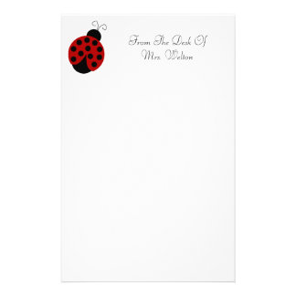 Personalized Ladybug Stationery
