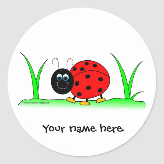 Personalized Ladybug Sticker
