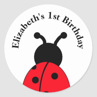 Personalized Ladybug Stickers with name and year