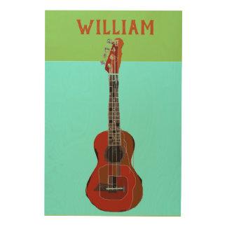 Personalized Large Guitar/Ukulele wall art