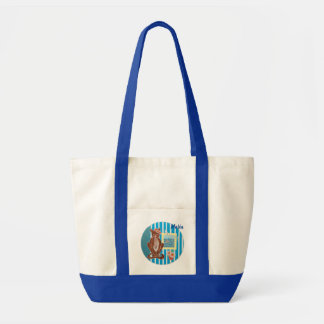 Personalized Large Tote Bag with Cat
