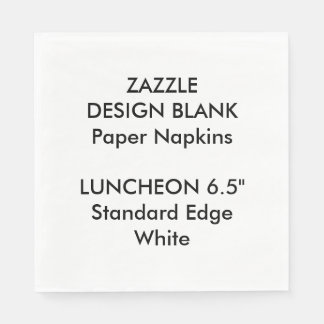 Personalized Large WHITE Luncheon Paper Napkins