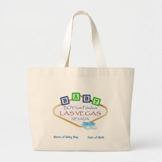 Personalized Las Vegas Baby Boy Jumbo Tote. Large Tote Bag