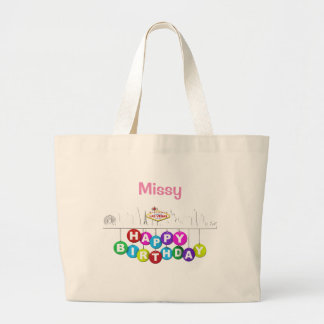 Personalized Las Vegas Birthday Jumbo Tote