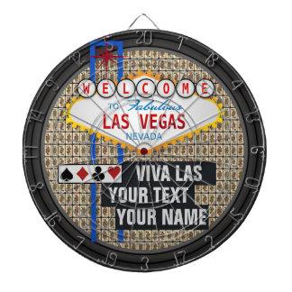 Personalized Las Vegas Dartboard With Darts