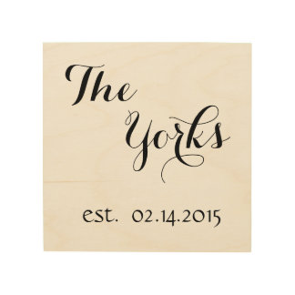 Personalized Last Name & Est. Date Wood Print