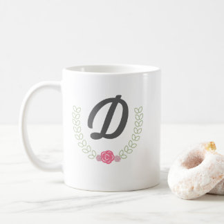 Personalized laurel wreath mug