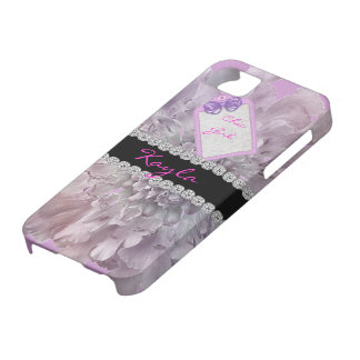 Personalized LAVEMDER  BLING PINK  I PHONE 5 CASE iPhone 5 Cover