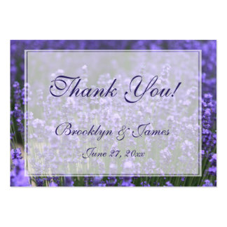Personalized Lavender Wedding Favor Tags Pack Of Chubby Business Cards