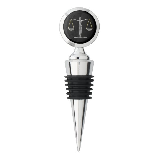 Personalized Law Design Monogrammed Wine Stopper