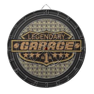 Personalized Legendary Garage Dartboard With Darts