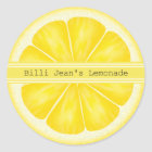 Personalized Lemon Slice Stickers