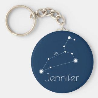 Personalized Leo Zodiac Constellation Keychain