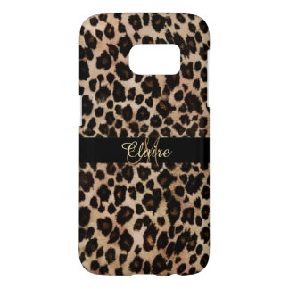 Personalized Leopard Animal Print Galaxy S7 Case