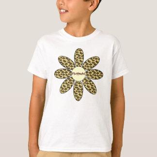Personalized Leopard Print Flower T-Shirt