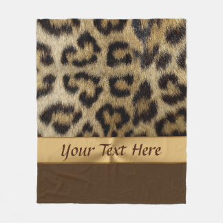 PERSONALIZED Leopard Print Gifts for Her Fleece Blanket