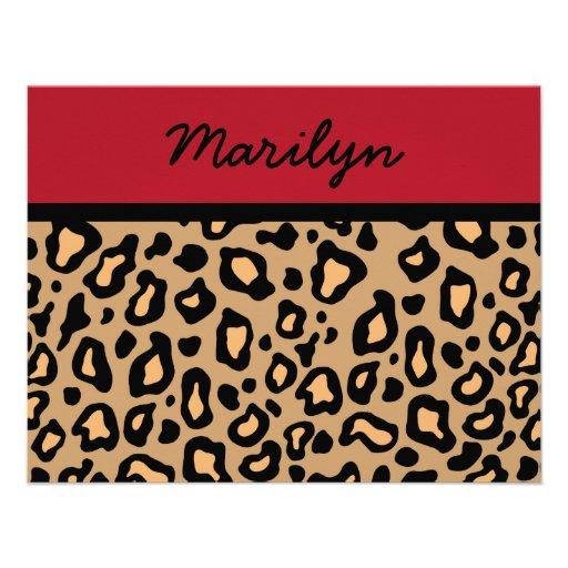 Personalized Leopard Print Invitations