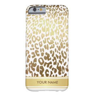 Personalized Leopard Skin White Gold Glam Case