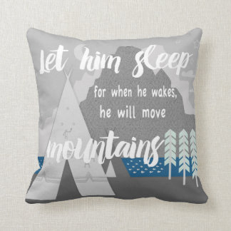 Personalized Let Him Sleep for When He Wakes Throw Pillow