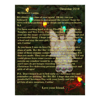 Personalized Letters from Santa Angel Lights Letterhead