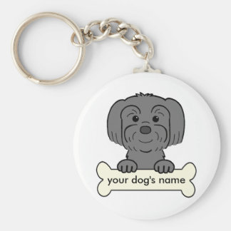 Personalized Lhasa Apso Keychain