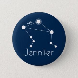 Personalized Libra Zodiac Constellation 2 Inch Round Button