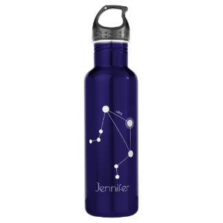 Personalized Libra Zodiac Constellation 710 Ml Water Bottle
