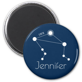 Personalized Libra Zodiac Constellation Magnet
