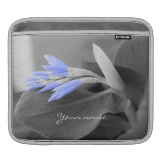 Personalized Light Blue Buds selective color iPad Sleeve