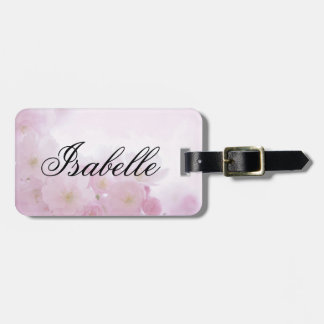Personalized Light Pink Floral Luggage Tag