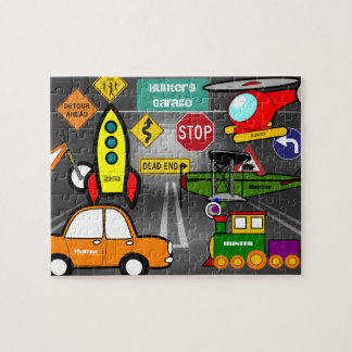 Personalized Lil Child's Dream Garage Jigsaw Puzzle