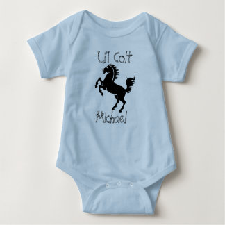 "Personalized ""Li'l Colt""  With Rearing Horse Baby Bodysuit"