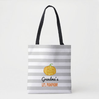 Personalized Lil Pumpkin Halloween Tote