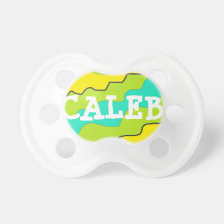 Personalized Lime Breen & Blue Baby Pacifier