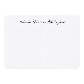 Personalized Linen Flat Note Card