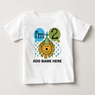 Personalized Lion 2nd Birthday Tshirt