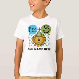 Personalized Lion 3rd Birthday T-shirt