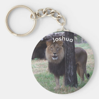 Personalized Lion Keyring