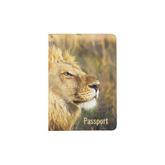 Personalized Lion Wild Animal Wildlife Safari Passport Holder