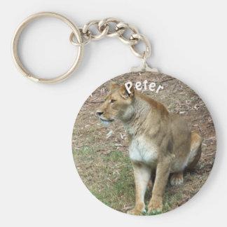 Personalized Lioness Keychain