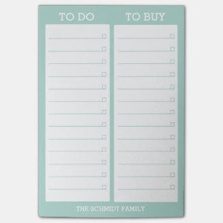 Personalized List- To Do, To Buy - Teal Post-it Notes
