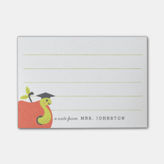 Personalized | Little Apple Teacher Stationery Post-it Notes