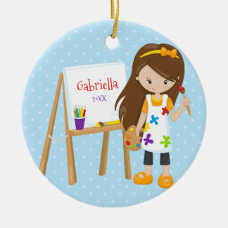 Personalized Little Artist Christmas Ornament