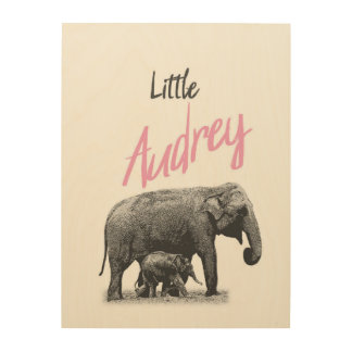 """Personalized """"Little Audrey"""" Wood Wall Art"""